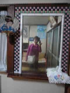 銭湯のタイルの鏡
