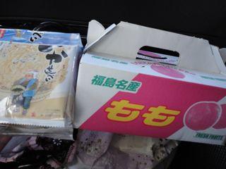 南部煎餅と福島の桃